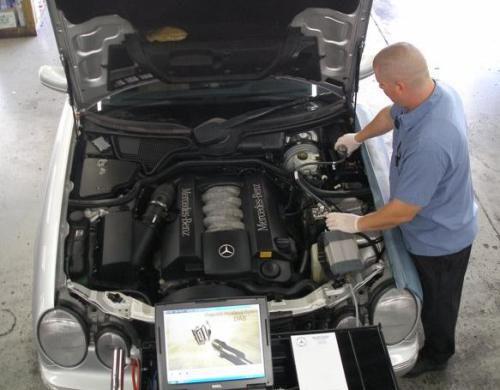 Диагностика двигателя Mercedes